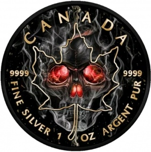 2018 Canada 5$ Maple Leaf - Smoked Skull
