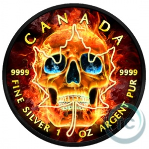 2018 Canada 5$ Maple Leaf - Burning Skull