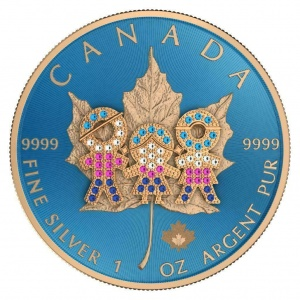 2019 Canada 5$ Maple Leaf - Family Day Bejeweled