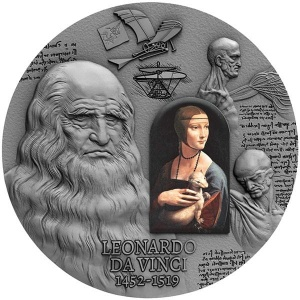 2019 Cameroun 2000 Francs 500th Anniversary of Leonardo Da Vinci's Death
