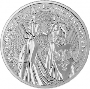 2019 Germania 5 Mark Allegories 1oz