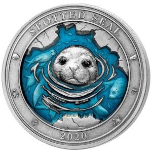 2020 Barbados 5$ Underwater World - Spotted Seal