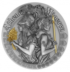2019 Niue 5$ Strong and Beautiful Goddesses - Athena and Minerva