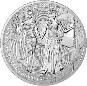 2019 Germania 5 Mark Columbia and Germania 1oz