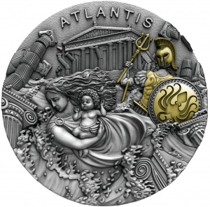 2019 Niue Islands 5$ Legendary Lands - Atlantis