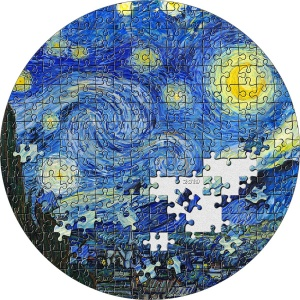 2019 Palau 20$ Treasures Starry Night Van Gogh Micropuzzle