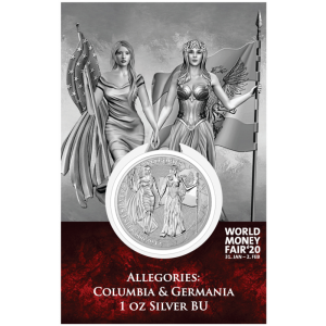 2019 Germania 5 Mark Columbia and Germania 1oz WMF 20