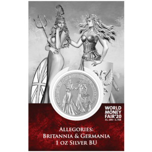 2019 Germania 5 Mark Britannia and Germania 1oz WMF 20