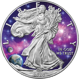 2020 USA 1$ Liberty Eagle Glowing Galaxy II