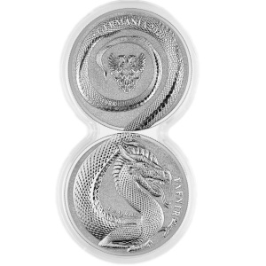 2020 Germania Beasts Fafnir 2 x 1oz Double Capsule