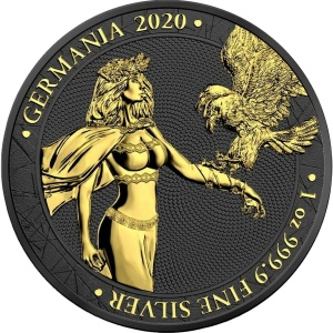 2020 Germania 5 Mark Black Gold Space Edition