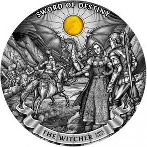 2020 Niue 50$ The Witcher -  Sword of Destiny kg