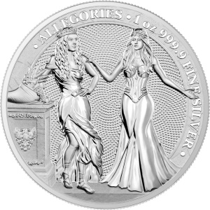 2020 Germania 5 Mark Italia and Germania 1oz