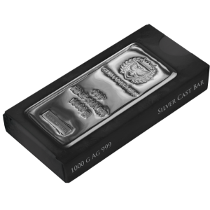 Germania Mint Silver Cast Bar 1000 G