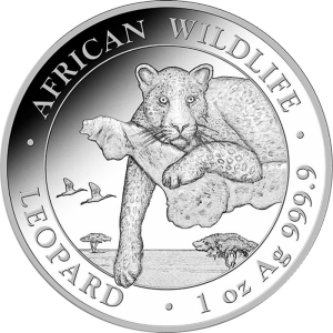 2020 Somalia 100 Shillings African Wildlife Leopard