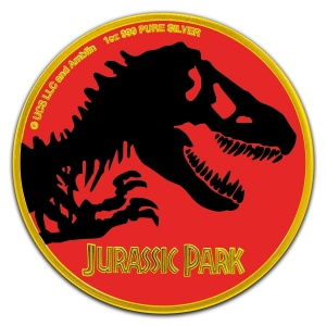 2020 Niue 2$ Jurassic Park Color Gold