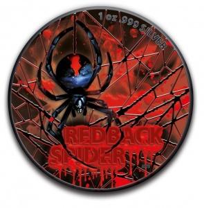 2020 Australia 1AUD Redback Spider Blood Color