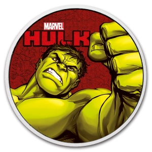 2019 Tuvalu 1$ Marvel Series Hulk Color