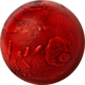 2021 Barbados 5$ Spherical Mars 3D Planet