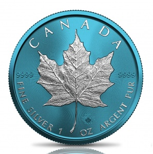 2021 Canada 5$ Maple Leaf Space Blue