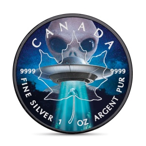 2018 Canada 5$ Maple Leaf - Glow in the Dark Alien and Ufo