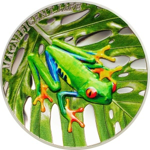 2018 Cook Islands 5$ Magnificent Life - Tree Frog